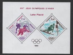 MONACO JEUX OLYMPIQUES LAKE PLACID 1980 - BLOC SPECIAL N° 12 ** MNH - COTE 385 EUR - Blocs