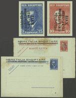 ALBANIA - ITALIAN OCCUPATION: Lettercards Overprinted In 1939, Cmpl. Set Of 2 Unused Values, Minor Defects, Scarce! - Colonie Portoghesi E Dipendenze - Non Classificati