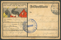 GERMANY: Very Nice Feldpost Card Mailed On 4/NO/1915 - Germania
