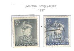 Polonia PO 1937 Mar.Smigly Rydz    Scott.312+313+See Scan On Scott.Page; - 1919-1939 Republic