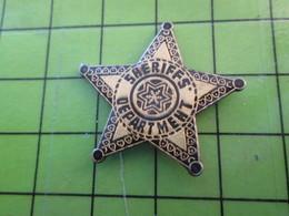 1418c Pin's Pins / Belle Qualité Et TB état !!!! : THEME POLICE / ETOILE DE SHERIFF POUR FAIRE LE KEKE DANS LES ZSP - Police