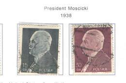 Polonia PO 1938 Pres.Moscicki    Scott.317+318+See Scan On Scott.Page; - 1919-1939 Republic