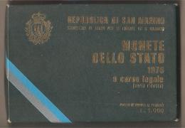 San Marino - Emissione 1976 Fds - Serie Ridotta In Cofanetto - San Marino