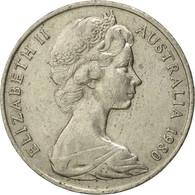 Monnaie, Australie, Elizabeth II, 20 Cents, 1980, Melbourne, TB+, Copper-nickel - 1855-1910 Monnaie De Commerce