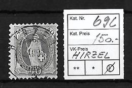 1882-1904 STEHENDE HELVETIA → SBK-69C  Hirzel   ►RRR◄ - 1882-1906 Armoiries, Helvetia Debout & UPU