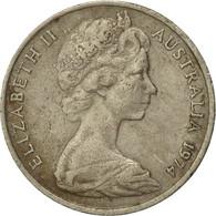 Monnaie, Australie, Elizabeth II, 20 Cents, 1974, Melbourne, TB, Copper-nickel - 1855-1910 Monnaie De Commerce
