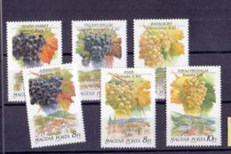 1990 Hungary - Wine Districs Of Hungary I And It Vine Types - MNH** MI 4101-6 A (bsh) Tokay, Eger, Badacsony, Szekszárd - Wein & Alkohol