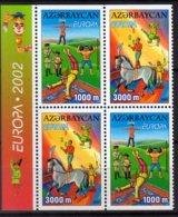 2002 Aserbajdzan - Europa CEPT Circus - 2sets Of MH - MNH** Mi 513D-514D (hj) - Aserbaidschan