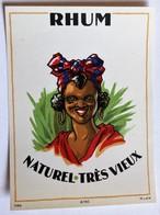 Ancienne étiquette Rhum Naturel Très Vieux 6750 MvdH - Rhum