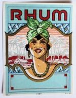Ancienne étiquette Rhum 1059 MvdH - Rhum