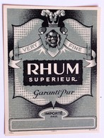 Ancienne étiquette Rhum Supérieur Very Fine 1064 MvdH - Rhum