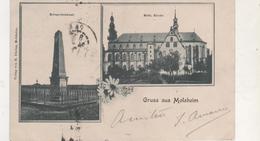 CPA..GRUSS AUS MOLSHEIM.JOLIE CARTE.MONUMENT EGLISE - Molsheim