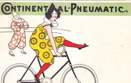 """CPA Publicitaire Publicité """"CONTINENTAL PNEUMATIC"""" Vélo Bicyclette Cyclisme Cycling Radsport Cirque Cirk Circus Clown - Publicité"""