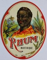 Ancienne étiquette Rhum Martinique Déposé 584 C M. F. - Rhum