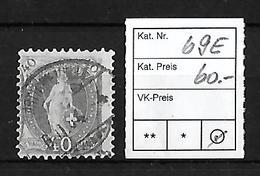 1882-1904 STEHENDE HELVETIA → SBK-69E   ►starke Exzentr. Druck/Verzahnung◄ - Oblitérés