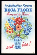 Carte Parfumée  Roja Flore, La Brillantine Parfum. Bouquet De Fleur. - Perfume Cards