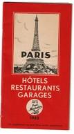 Edité Par Le Pneu MICHELIN - Paris - Guide Hôtels Restaurants Garages 1952 - Voir Scans - Voyages