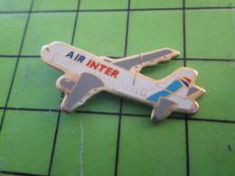 1418c Pin's Pins / Belle Qualité Et TB état !!!! : THEME AVION AVIATION / BIMOTEUR COMPAGNIE AERIENNE AIR INTER - Airplanes