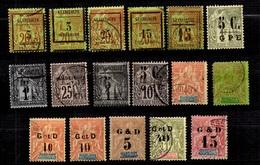 Guadeloupe Petite Collection D'anciens Neufs Et Oblitérés 1889/1903. Bonnes Valeurs. B/TB. A Saisir! - Guadeloupe (1884-1947)