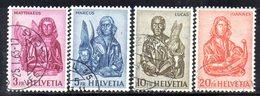 1096 490 - SVIZZERA 1961, Serie Unificato N. 680C/F Usato - Schweiz