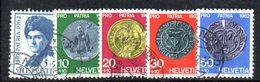 1099 490 - SVIZZERA 1962, Serie Unificato N. 693/697  Usata - Pro Patria