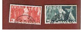 SVIZZERA (SWITZERLAND) - SG 388C.389C  -  1938  SWISS FEDERATION   - USED - Used Stamps