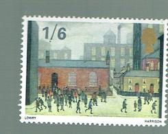 GREAT BRITAIN UK 1967 SCHOOL PAINTING LOWRY HARRISON - 1952-.... (Elizabeth II)