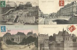 LOT DE 78 CARTES POSTALES ANCIENNES DE RENNES (35). - Rennes