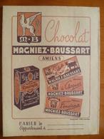 Protège Cahier  Chocolat MAGNIER BAUSSART A AMIENS - Buvards, Protège-cahiers Illustrés