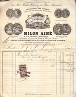1909 - Paris (1er) - Bonneterie Milon Ainé Au 98 Rue Saint-Honoré - FRANCO DE PORT - Textile & Vestimentaire