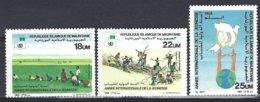 Mauritanie Yv 572/4 Année Internationale De La Jeunesse ** Mnh - Mauritanie (1960-...)