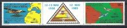 Mauritanie Yv PA 235A Tryptique , 1ere Traversée Atlantique - Sud ** Mnh - Mauritanie (1960-...)