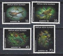Papua New Guinea Yv 520/23, Ameripex 86, Faune, Oiseaux  ** Mnh - Papouasie-Nouvelle-Guinée
