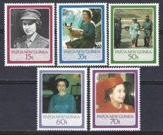 Papua New Guinea Yv 515/19,  60e Anniversaire De S.M.Elisabeth II  ** Mnh - Papua-Neuguinea