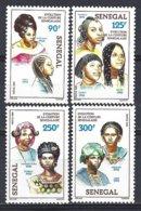 Senegal  Yv 656/59,  évolution De La Coiffure Au Sénégal ** Mnh - Sénégal (1960-...)
