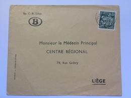BELGIUM -  1940`s Cover With Kunstambachten Stamp Sent To `Monsieur Le Medecin Principal` - Belgique