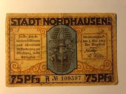 Allemagne Notgeld Nordhausen 75 Pfennig - Collezioni