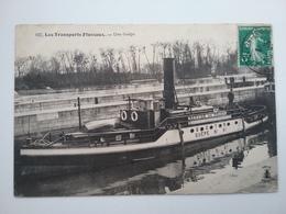 Bougival              Ecluse    (peniche )schiffe Arken - Péniches