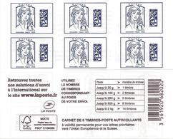 CARNET DATAMATRIX 1216-C2 - EUROPE 20 Grammes 2017 - 6 TIMBRES AUTOADHESIFS - Carnets