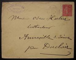 Jumièges (Seine Inférieure) Prosper Peschard Notaire Lettre De 1907 - Marcophilie (Lettres)