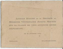 7419 Braine La Comte Mignault Engagement Lucille Baguet & Joseph Meuree - Fiançailles