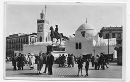 (RECTO / VERSO) ALGER EN 1937 - N° 241 - MOSQUEE DE SIDI ABDERRAHMAN - BEAU TIMBRE - FORMAT CPA VOYAGEE - Algiers