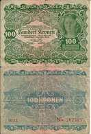 Autriche - Austria 100 KRONEN 1922 - Pick 77 TB - Austria