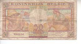 Billet De 50 Francs N° 45 B - [ 2] 1831-... : Royaume De Belgique