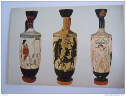 Cpm Greece Grece Athènes Musée National Lécythe Attique Attic Vase Form. 16.7 X 11.7 Cm - Grèce
