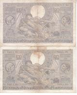 Lot De 2 Billet 60 D - 22.08.41 Et 26.06.42 - 100 Francs & 100 Francs-20 Belgas