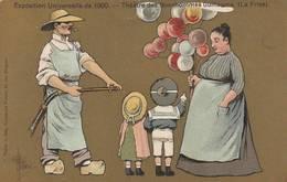 """CPA COULEUR:SIGNÉ """"GUILLAUME"""" THÉÂTRE DES BONSHOMMES GUILLAUME ( LA FRISE ) ENFANTS BALLONS EXPOSITION UNIVERSELLE 1900 - Guillaume"""
