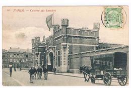 CPA : NAMUR - Caserne Des Lanciers , Rue Rogier, Attelage Déménagements Dethier , Militaires - Namur