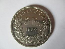 Suisse: 5 Francs 1982 - Pièce Commémorative Gotthard 1882 - 1982 - Switzerland
