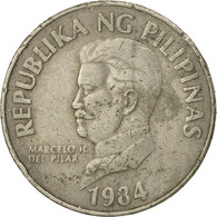 Monnaie, Philippines, 50 Sentimos, 1984, TB+, Copper-nickel, KM:242.1 - Philippines